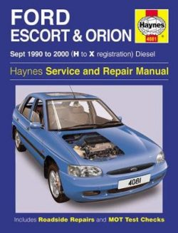 Ford Escort & Orion Diesel (Sept 90 – 00) H To X