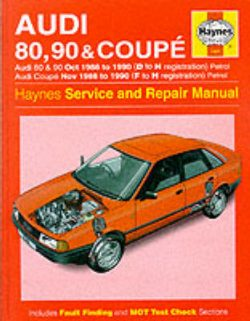 Audi 80, 90 and Coupe 1986-90 Service and Repair Manual