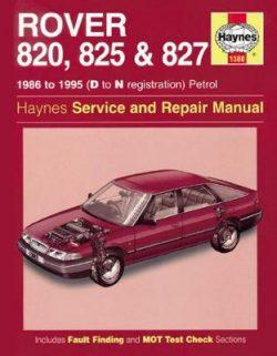 Rover 820, 825 & 827 Petrol 1986-1995 Repair Manual