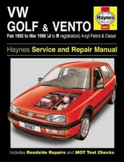 VW Golf & Vento 1992-1998 Repair Manual