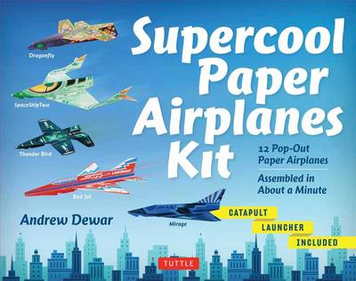 Supercool Paper Airplanes Kit: 12 Pop-Out Paper Airplanes – Assembled in About a Minute