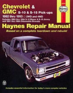 Chevrolet S-10 & GMC S-15 Pick-Ups, & Olds Bravada (82 – 94)