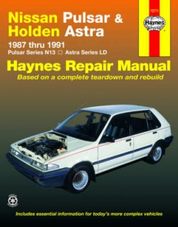 Nissan Pulsar and Holden Astra Australian Automotive Repair Manual: 1987 to 1991