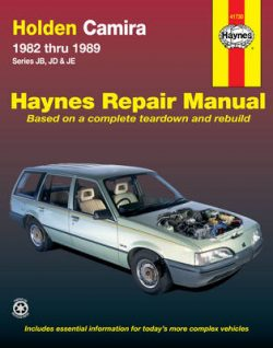 Holden Camira Australian Automotive Repair Manual: 1982-1989