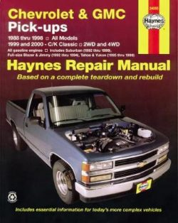 Chevrolet & GMC Pick-Ups, 2Wd & 4Wd (88 – 00)