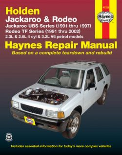 Holden Rodeo & Jackaroo (91 – 02)