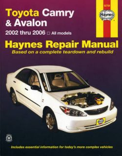 Toyota Camry & Avalon 02-06
