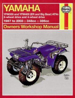 Yamaha Timberwolf, Bruin, Bear Tracker, 350Er And: 1987 to 2009