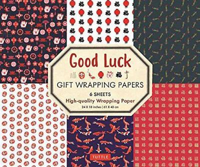 Good Luck Gift Wrapping Papers – 6 Sheets: 6 Sheets of High-Quality 18 x 24 inch Wrapping Paper