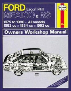 Ford Escort Mk II Mexico, RS 1800 & RS 2000 1975-1980 Repair Manual