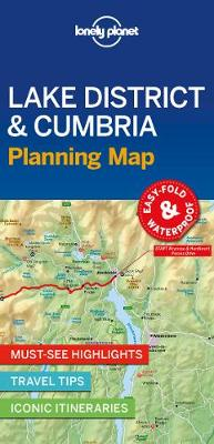 Lonely Planet Lake District & Cumbria Planning Map