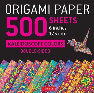 Origami Paper 500 Sheets Kaleidoscope Patterns 6″ (15 CM): 12 Double-Sided Designs