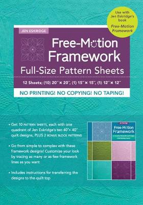 Free-Motion Framework Full-Size Pattern Sheets: 12 Sheets; (10) 20″ x 20″, (1) 15″ x 15″, (1) 12″ x 12″
