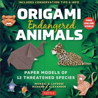 Origami Endangered Animals Kit: Paper Models of Threatened Wildlife