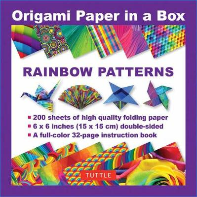 Origami Paper in a Box – Rainbow Patterns