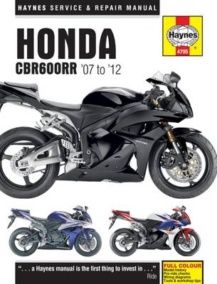 Honda CBR600RR Motorcycle Repair Manual