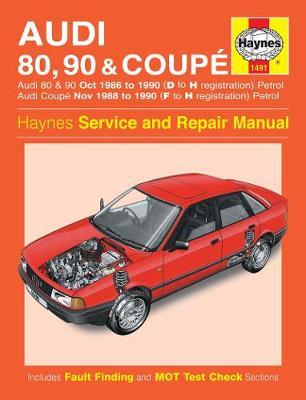 Audi 80, 90 & Coupe Petrol 1986-1990 Repair Manual