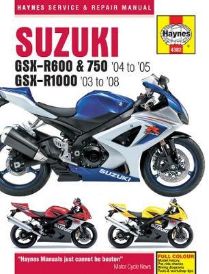 Suzuki GSX-R600 & 750 04-05& GSX-R1000 2003-2008 Repair Manual