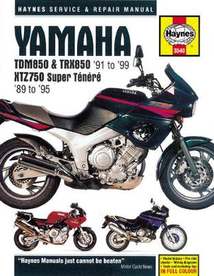 Yamaha TDM850/TRX850/XTZ750 Super Tenere 1989-1999 Repair Manual