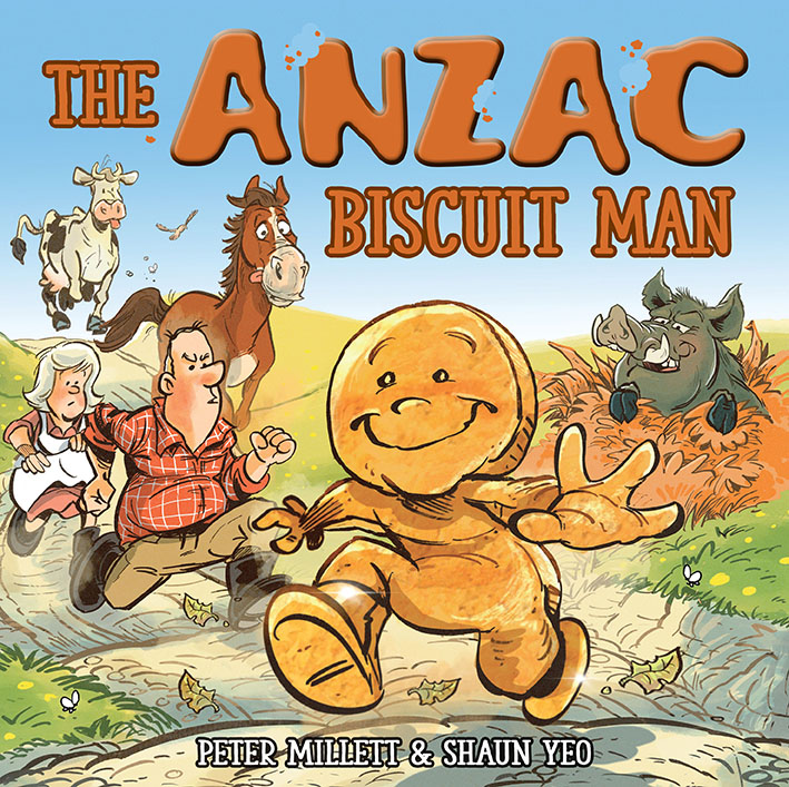 'Rattle your dags as fast as you can. You can't dunk me, I'm the ANZAC Biscuit Man'.