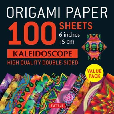 Origami Paper 100 sheets Kaleidoscope 6″ (15 cm): Tuttle Origami Paper: High-Quality Double-Sided Origami Sheets Printed with 12 Different Patterns: Instructions for 6 Projects Included