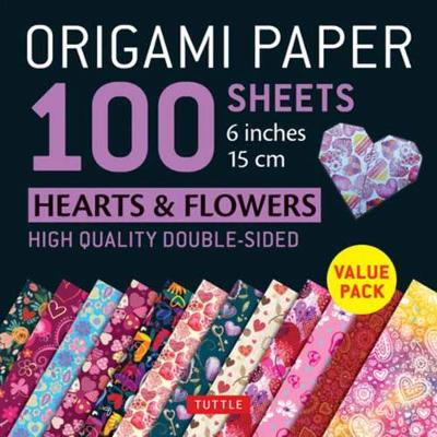 Origami Paper 100 sheets Hearts & Flowers 6″ (15 cm): Tuttle Origami Paper: High-Quality Double-Sided Origami Sheets Printed with 12 Different Patterns: Instructions for 6 Projects Included