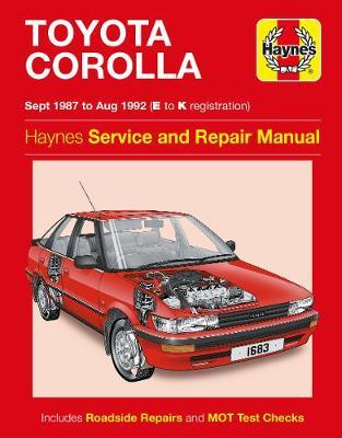 Toyota Corolla Petrol 1987-1992 Repair Manual