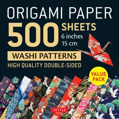 Origami Paper 500 sheets Japanese Washi Patterns 6″ (15 cm): Tuttle Origami Paper: High-Quality Double-Sided Origami Sheets Printed with 12 Different Designs (Instructions for 6 Projects Included)