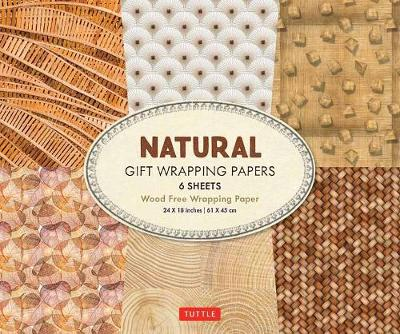 All Natural Gift Wrapping Papers: 6 Sheets of High-Quality 24 x 18 inch Wrapping Paper