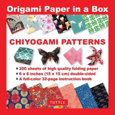Origami Paper in a Box – Chiyogami Patterns: 200 Sheets of Tuttle Origami Paper