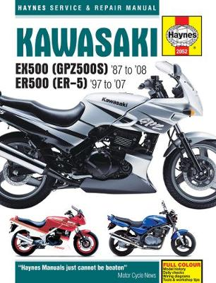 Kawasaki EX500A 87-93 and EX500D 1994-2008 Repair Manual