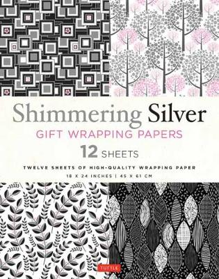 Shimmering Silver Gift Wrapping Papers: 12 Sheets of High-Quality 18 x 24″ (45 x 61 cm) Wrapping Paper