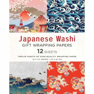 Japanese Washi Gift Wrapping Papers: 12 Sheets of High-Quality 18 x 24″ (45 x 61 cm) Wrapping Paper
