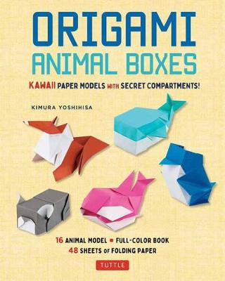 Origami Animal Boxes Kit: Cute Paper Models with Secret Compartments! (16 Animal Origami Models)