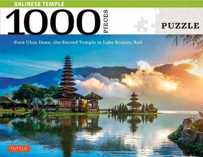 Balinese Temple Jigsaw Puzzle – 1,000 pieces: The Sacred Balinese Temple on Lake Bratan, Pura Ulun Danu (Finished Size 29 in. X 20 in.)