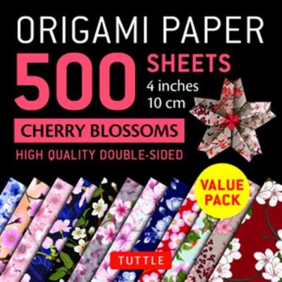 Origami Paper 500 sheets Cherry Blossoms 4″ (10 cm): Tuttle Origami Paper: High-Quality Double-Sided Origami Sheets Printed with 12 Different Patterns