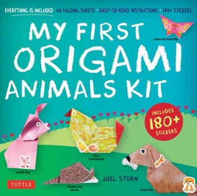 My First Origami Animals Kit: Everything is Included: 60 Folding Sheets, Easy-to-read Instructions, 180+ Stickers (Origami Kit with Book, 60 Papers, 17 Projects and 180+ Stickers]