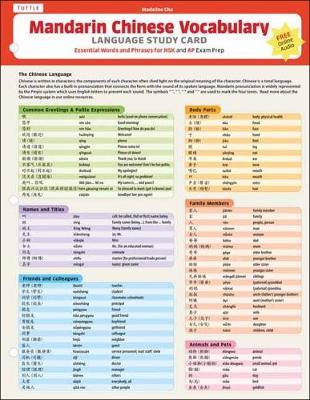 Mandarin Chinese Vocabulary Language Study Card: Over 700 Key Mandarin Vocabulary At-A-Glance (Online Audio Files)