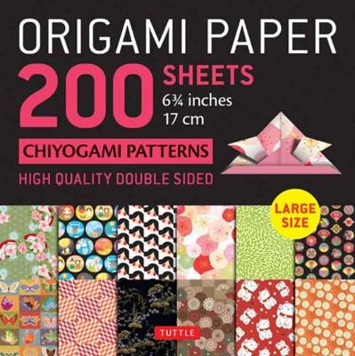 Origami Paper 200 sheets Chiyogami Patterns 6 3/4″ (17cm): Tuttle Origami Paper: High-Quality Double Sided Origami Sheets Printed with 12 Different Patterns (Instructions for 6 Projects Included)