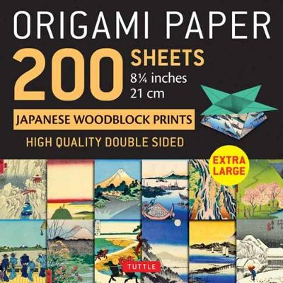 Origami Paper 200 sheets Japanese Woodblock Prints 8 1/4″: Extra Large Tuttle Origami Paper: High-Quality Double Sided Origami Sheets Printed with 12 Different Prints (Instructions for 6 Projects Included)