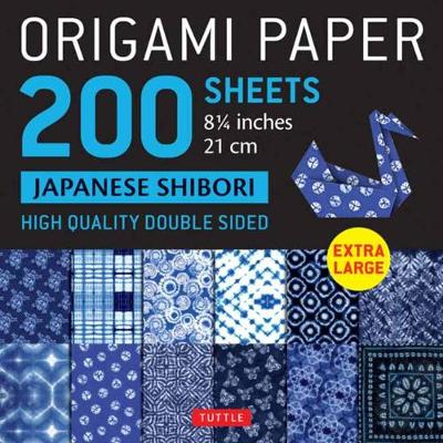 Origami Paper 200 sheets Japanese Shibori 8 1/4″ (21 cm): Extra Large Tuttle Origami Paper: High-Quality Double Sided Origami Sheets Printed with 12 Different Designs (Instructions for 6 Projects Included)