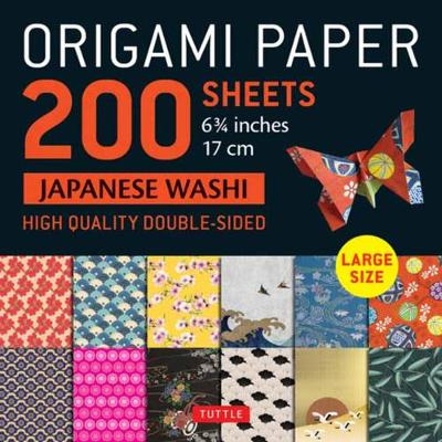 Origami Paper 200 sheets Japanese Washi Patterns 6.75 inch: Large Tuttle Origami Paper: High-Quality Double Sided Origami Sheets Printed with 12 Different Patterns (Instructions for 6 Projects Included): Instructions for 6 Projects Included