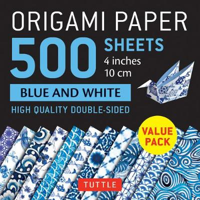 Origami Paper 500 Sheets Blue and White 4″ (10 CM): Tuttle Origami Paper: High-Quality Double-Sided Origami Sheets Printed with 12 Different Designs
