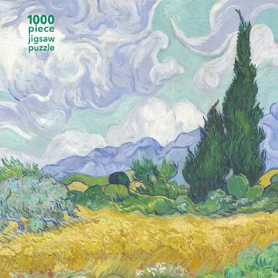 Adult Jigsaw Puzzle Vincent van Gogh: Wheatfield with Cypress: 1000-piece Jigsaw Puzzles