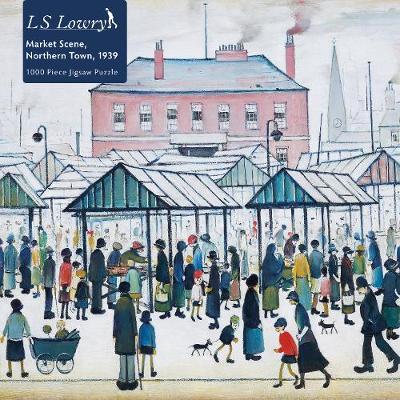 Adult Jigsaw Puzzle L.S. Lowry: Market Scene, Northern Town, 1939: 1000-piece Jigsaw Puzzles