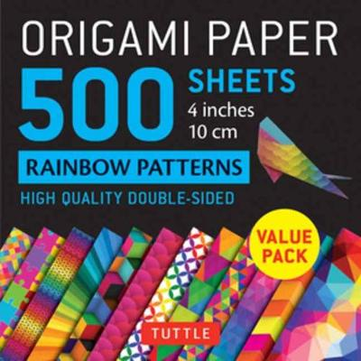 Origami Paper 500 Sheets Rainbow Patterns 4″ (10 CM): Tuttle Origami Paper: High-Quality Double-Sided Origami Sheets Printed with 12 Different Patterns