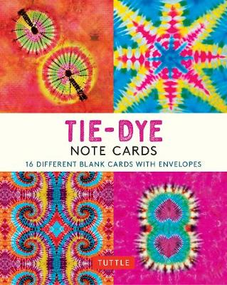 Tie-Dye Note Cards: 16 Different Blank Cards & 17 Envelopes