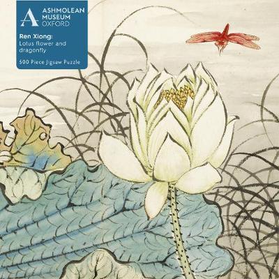Ashmolean Ren Xiong Lotus Flower & Dragonfly 500 Jigsaw