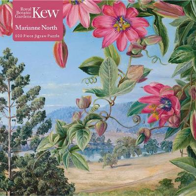 Adult Jigsaw Puzzle Kew: Marianne North: View in the Brisbane Botanic Garden (500 pieces): 500-piece Jigsaw Puzzles