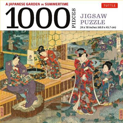 A Japanese Garden in Summertime Jigsaw Puzzle – 1,000 pieces: A Scene from THE TALE OF GENJI, Woodblock Print (Finished Size 24 in X 18 in)